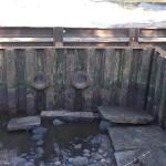Водосброс на реке Грузинка
