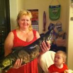 Наталья Лукина с трофейным лососем