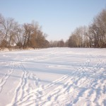 Река Оскол, скованная льдом